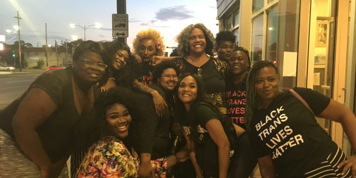 Miss Major Griffin-Gracy with Project BreakOUT! in New Orleans during #QTPOC Pride 2018